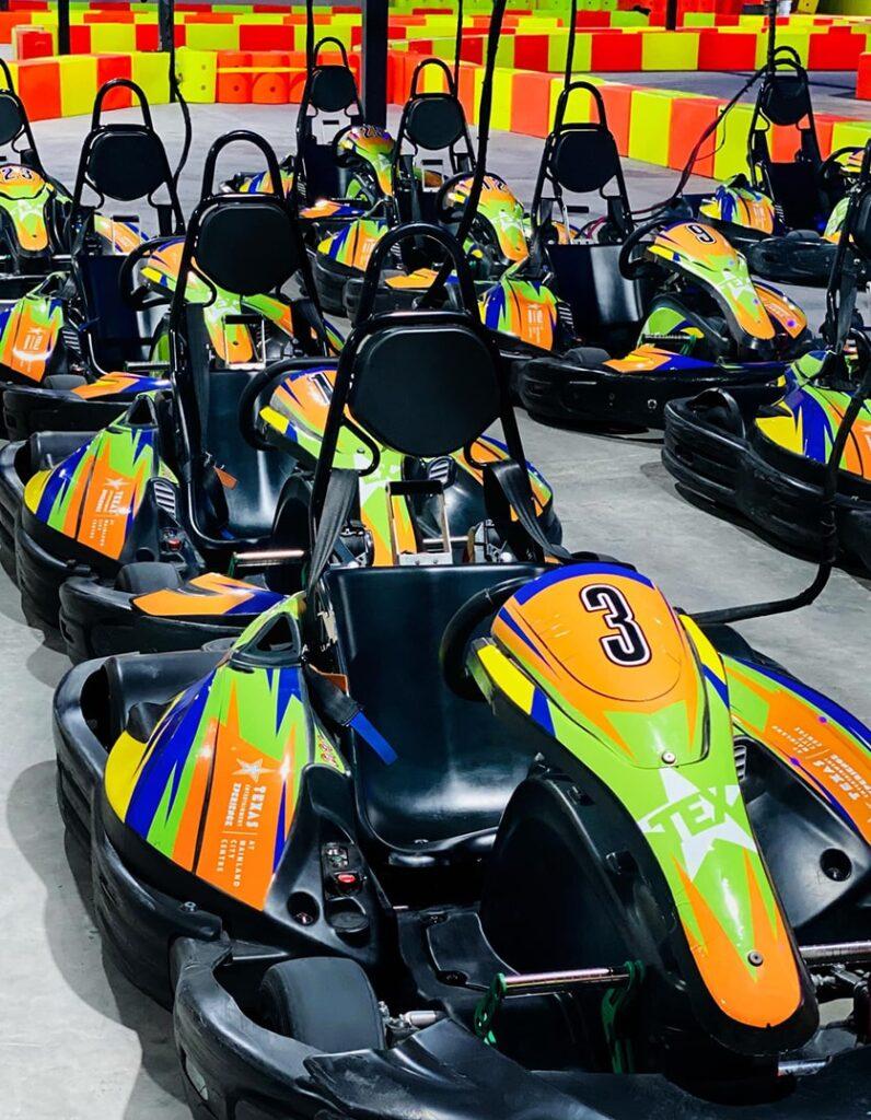 tex branded go-karts