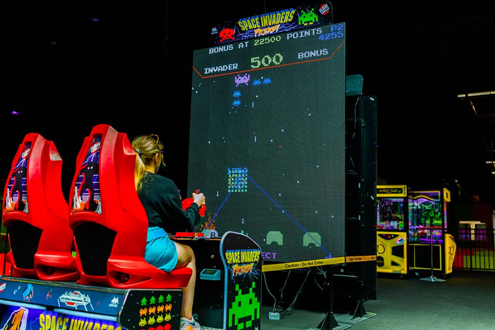 space invaders arcade game at tex